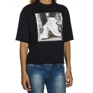 Tričko Converse Sneaker Photo Mock Neck Tee