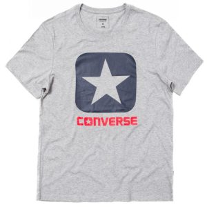 10001969-035 Triko Converse Core Boxtar Tee Vintage Grey Heather