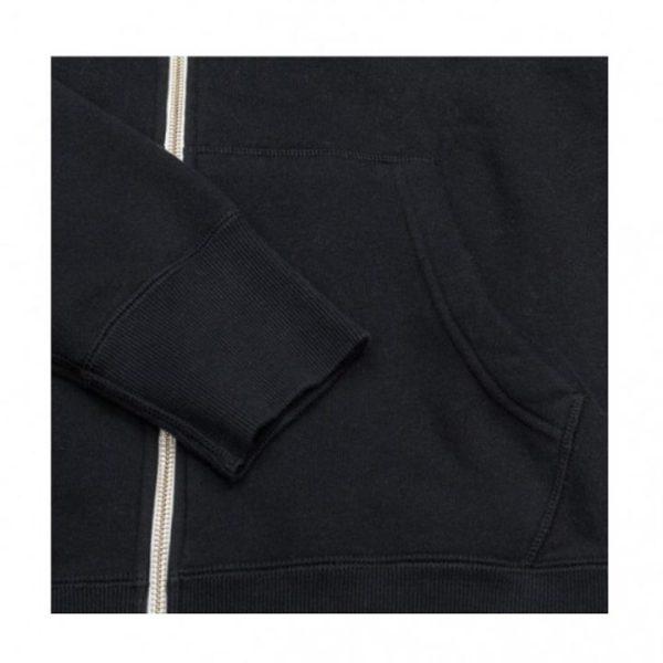 Mikina Converse Core Full Zip Hoodie Black Mid