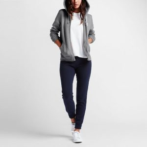10002089-035 Mikina Converse Core Vintade Grey Fleece