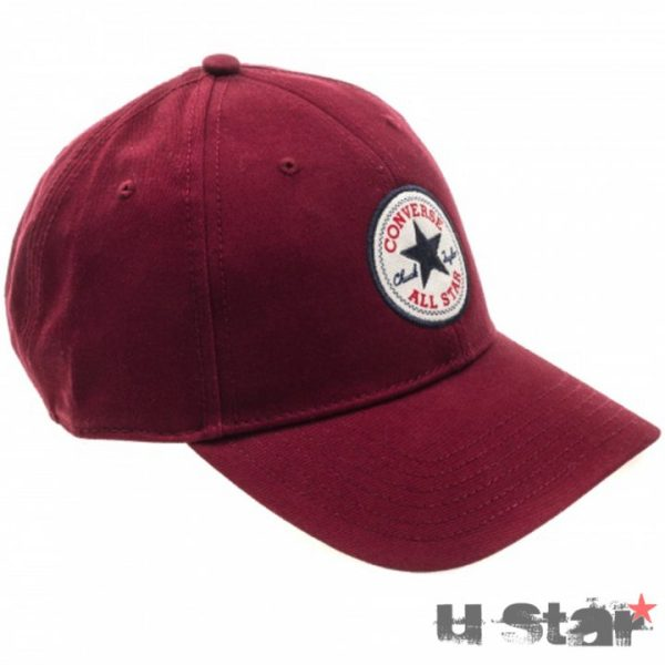 526607 Kšiltovka Converse Core Cotton Twill Cap Red Block