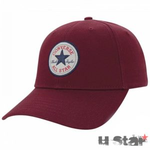 526607 Kšiltovka Converse Core Cotton Twill Cap Red Block