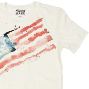 Converse tričko Watercolor Flag Egret